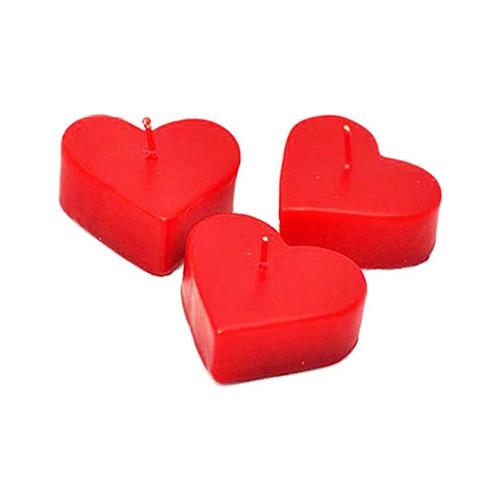 Tvshopmarket 1 Koli Kırmızı Kalp Mum