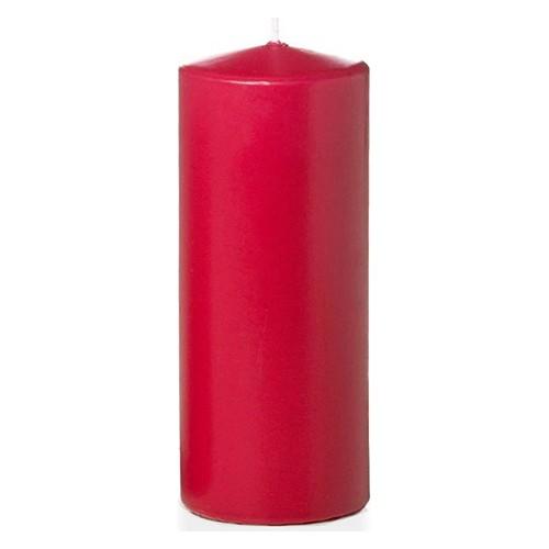 Tvshopmarket Kırmızı Kütük Mum ( 8 X 16 )