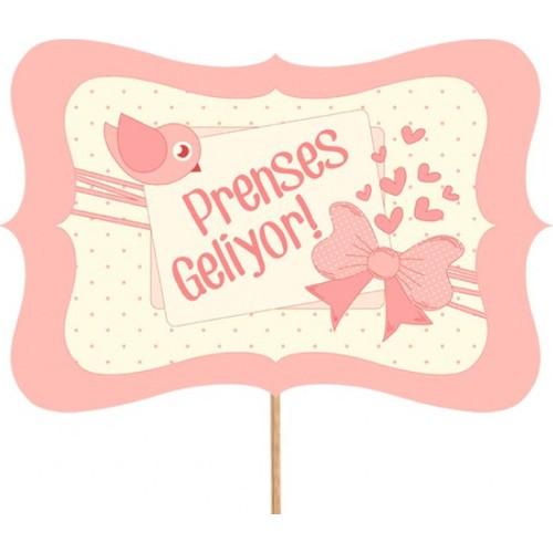 Prenses Geliyor Konuşma Balonu Parti Çubuğu