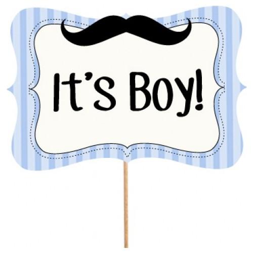 It'S Boy Konuşma Balonu Parti Çubukları