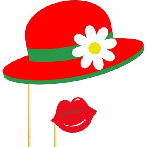 Şapka Dudak Konuşma Balonu Parti Çubukları