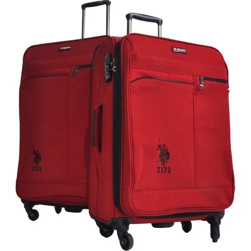 U.S. Polo Assn.2Li Valiz Seti Büyük Ve Orta Bordo 6051