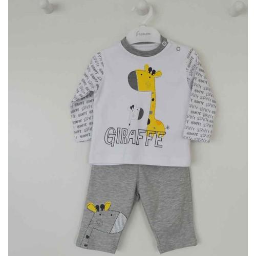 Premom 1381A Giraffe Erkek Bebek 2'li Patiksiz Takım