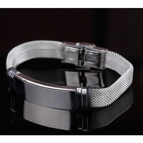 Çınar E-Ticaret Gri Renk Silver Renk Çelik Sade Ve Şık Tasarım Erkek Bileklik