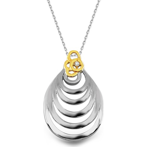 Allegro Gold 0,020 ct Pırlanta Damla Kolye ASD0032