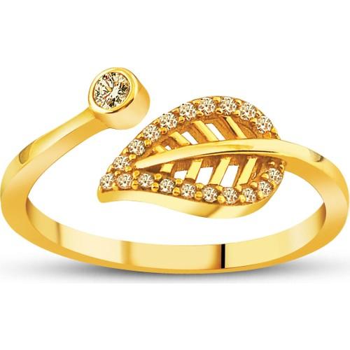 Allegro Gold Yaprak Altın Yüzük AGT0507