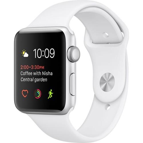 Apple Watch Seri 2 38mm Gümüş Rengi Alüminyum Kasa ve Beyaz Spor Kordon - MNNW2TU/A
