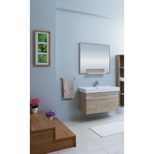 Kare Banyo Legno 90Cm Banyo Dolabı Mdf