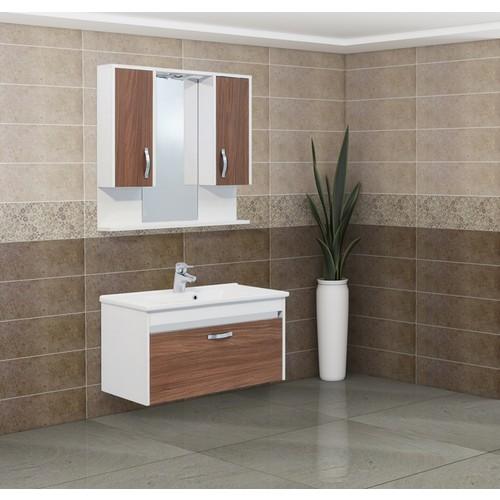 Kare Banyo Tempo 85 Cm Banyo Dolabı Mdf