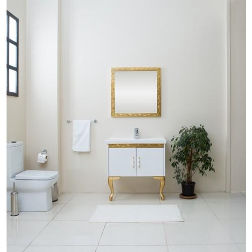 Kare Banyo Sirena 80Cm Banyo Dolabı Mdf