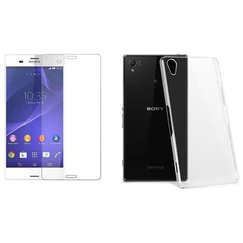 Blueway Sony Xperia Z3kırılmaz Cam Ekran Koruyucu + Şeffaf Silikon Kılıf