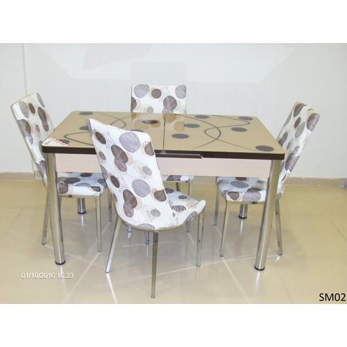 Teknoset Mutfak Masa Takımı Sm02Kahve