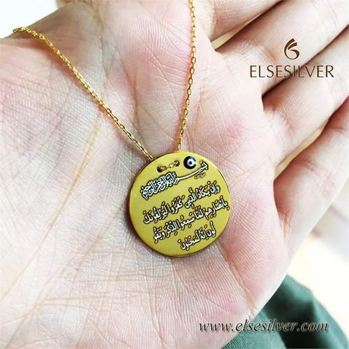 Else Silver Nazar Duası Kolye