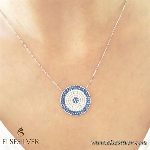 Else Silver Nazar Gümüş Kolye