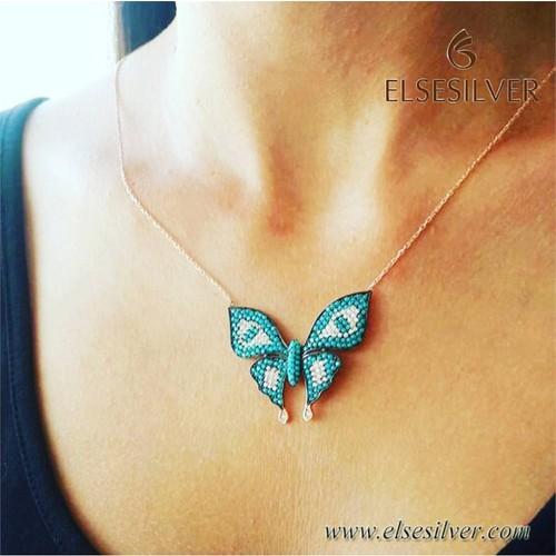 Else Silver Butterfly Gümüş Kolye