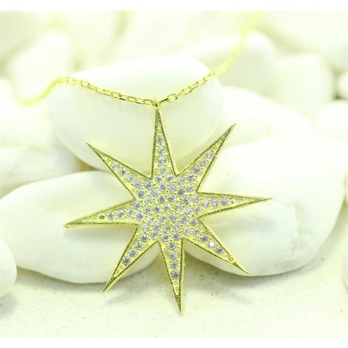 Else Silver Sarı Yıldız Kolye