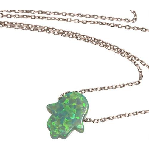 Else Silver Opal Fatmanın Eli Kolye