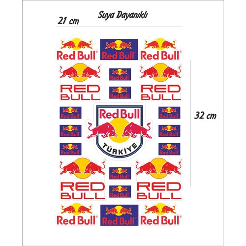StickerMarket Redbull Sponsor Sticker Seti