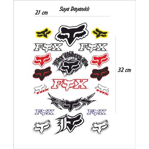 StickerMarket Fox Motosiklet Sticker Seti