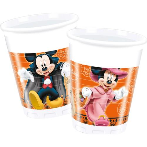 KullanAtMarket Mickey Halloween Plastik Bardak - 8 Adet