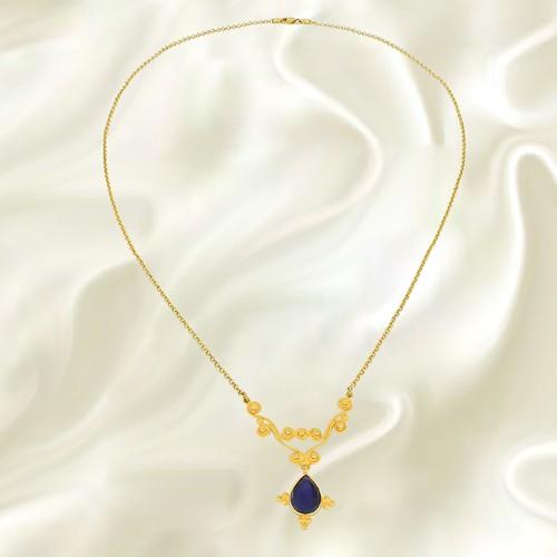 Tuğrul Kuyumculuk Handmade Sapphıre Necklace