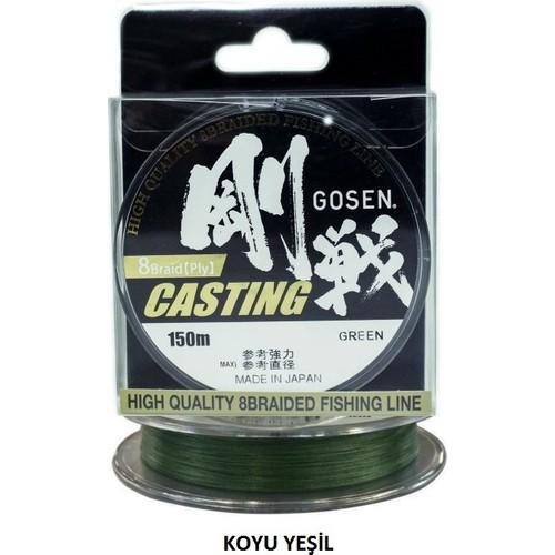 Gosen W-8 Casting Pe 8 Kat Örgü Misina Pe 1,2 / 0,187 Mm