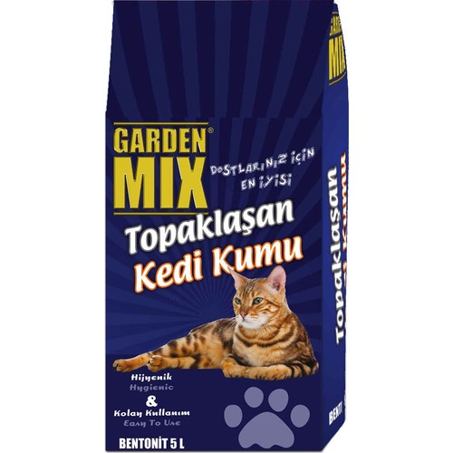 Garden Mix 5 L (Stn) Kalın Tane Kedi Kumu