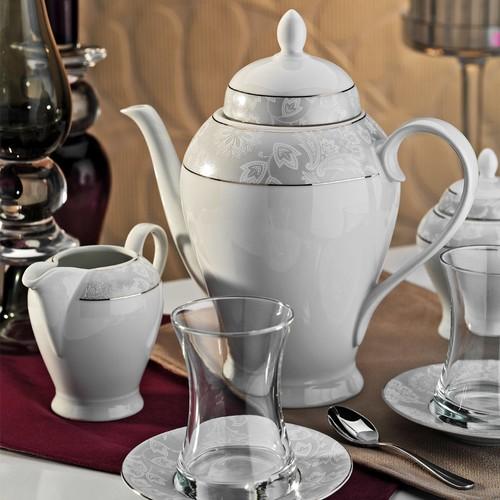 Kütahya Porselen 29 Parça 10136 Desen Çay Takımı