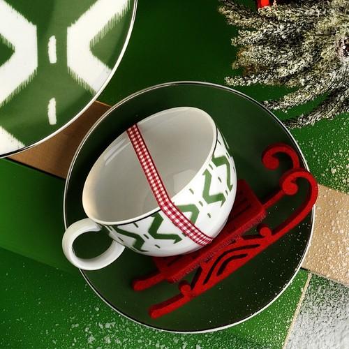 Kütahya Porselen 12 Parça Çay Takımı Yeşil
