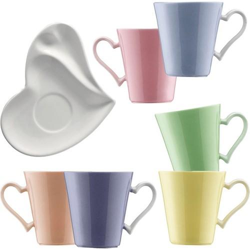 Kütahya Porselen 12 Parça Kalpli Kahve Takımı