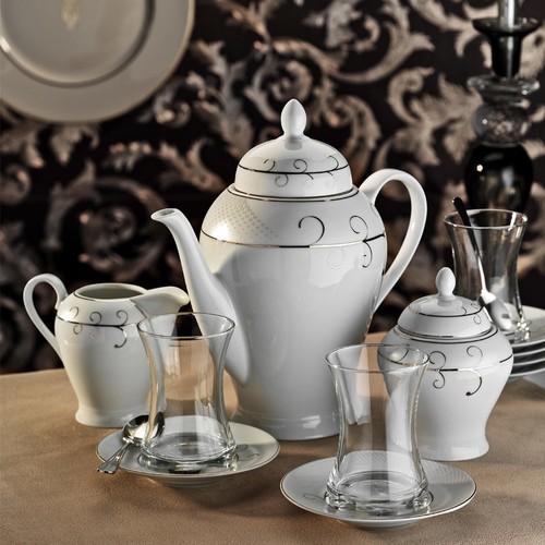 Kütahya Porselen 29 Parça 10133 Desen Çay Takımı