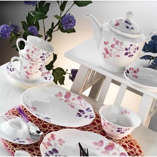 Kütahya Porselen Bone China 44 Parça 55102 Desen Kahvaltı Takımı