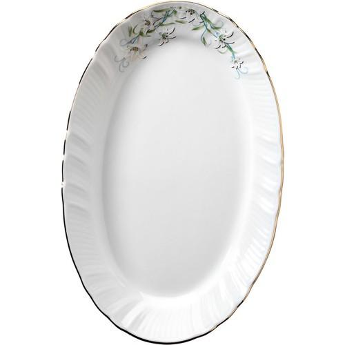 Kütahya Porselen Diana Çiçekli 25 Cm Kayık Tabak