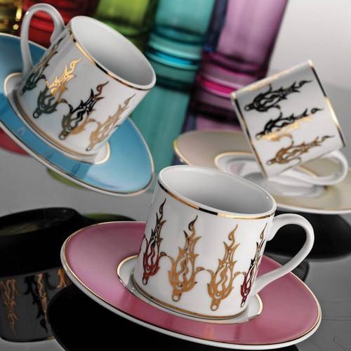 Kütahya Porselen Rüya 18 Parça 6592 Desen Kahve Fincan Takımı