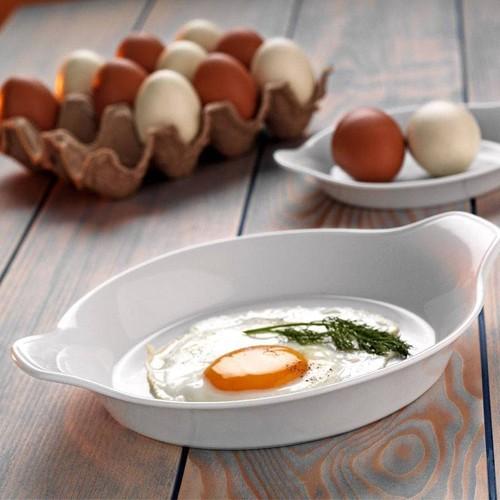 Kütahya Porselen Tavola Serisi Porselen Yumurta Sahanı Büyük