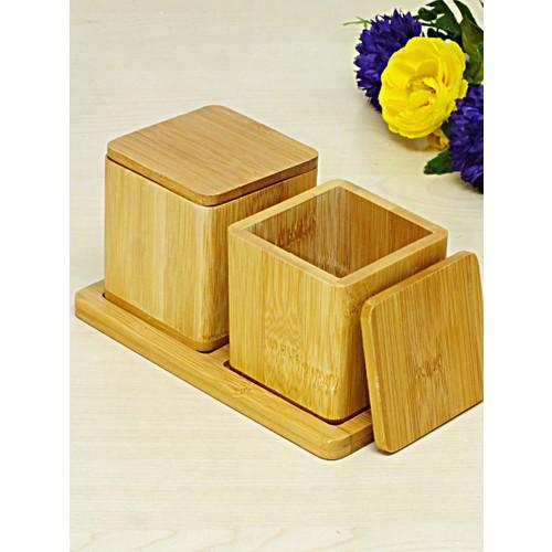 Kitchen Love Bambu 2Li Baharat Kabı