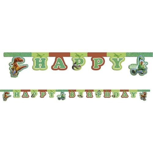Balon Evi The Good Dinosaur & Dinazor Happy Bırthday Yazı Süs