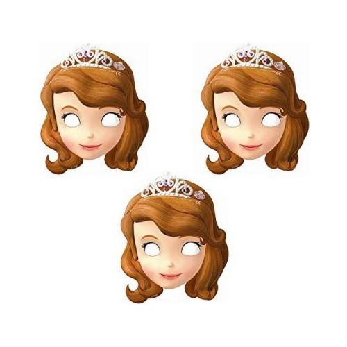 Disney Prenses Sofia Maske ( 6 Adet)