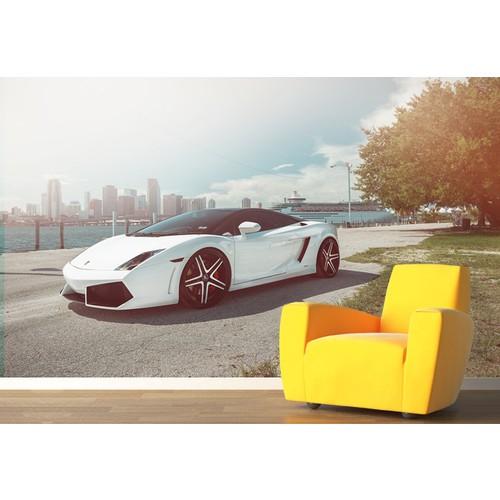 Lamborghini 002 Duvar Sticker 250x250cm