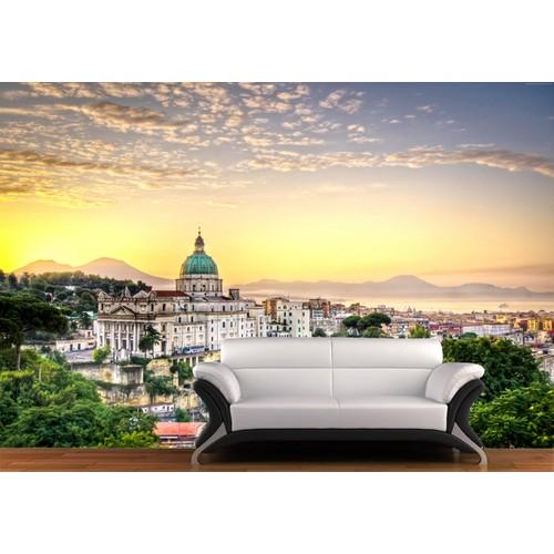 Napoli Manzarası Duvar Sticker 350x250cm