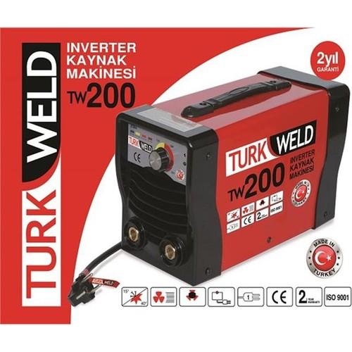 Turkweld Tw200Pls 200A Inver.Kaynak Mak.Kırmızı