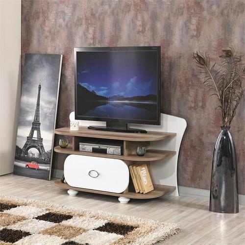 JadelDunya 390 Alaska-Beyaz Tv Sehpası 125 Cm