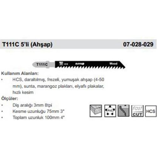 Rayko Dekupaj Bıcagı T111C 5'Lı (Ahsap)
