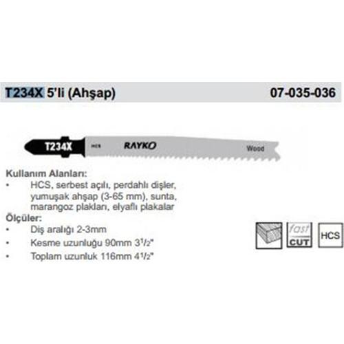 Rayko Dekupaj Bıcagı T234X 5'Lı (Ahsap)