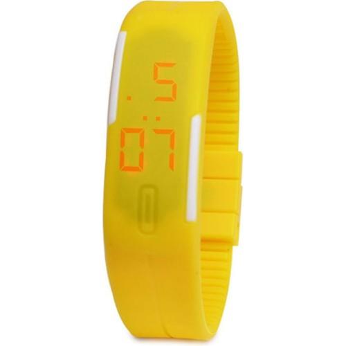 Pratik Led Kol Saati - Trend Saat Bileklik (Sarı)