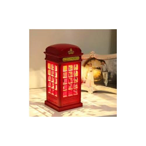 Original Boutique Nostaljik London Telefon Kulübesi Gece Lambası