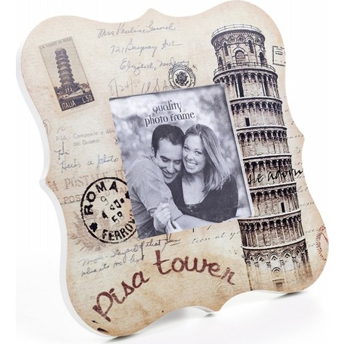 Decotown Pisa Tower Ahşap Fotoğraf Çerçevesi