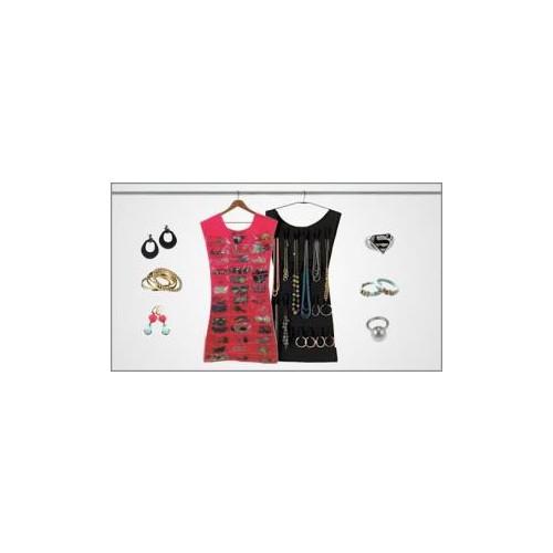 Original Boutique Welfare Elbise Şeklinde Takı Organizeri ( Beyaz Pembe)