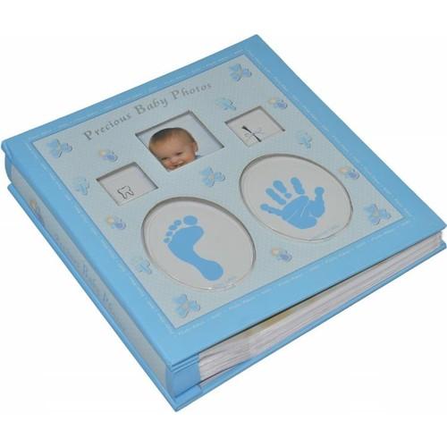 Pratik Yeni Doğan Bebek Albümü (120 Fotograflık)-Mavi