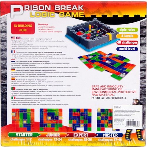 Hobi Eğitim Dünyası Prıson Break Game - Alcatraz Zeka Oyunu